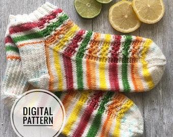 SLICE OF SUMMER  Sock Pattern  - Digital Pattern