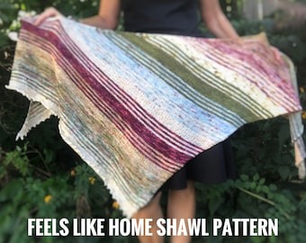 FEELS LIKE HOME Shawl - digital pattern
