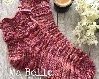 MA BELLE  Sock Pattern  - Digital Pattern