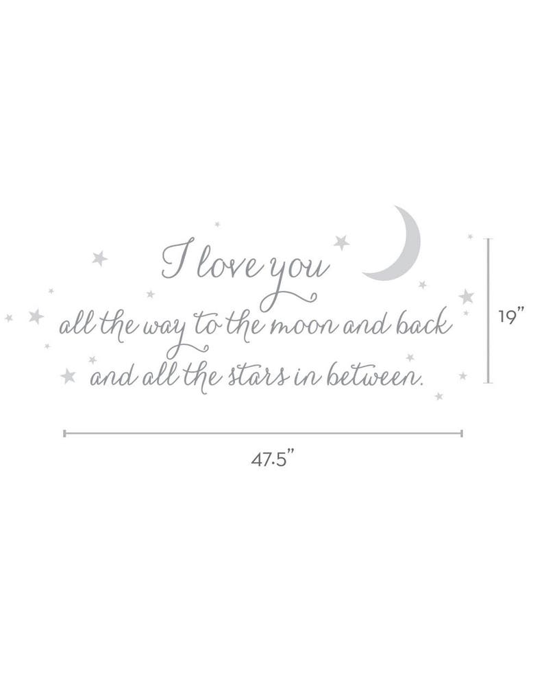 I Love You All The Way Lettering Wall Decal Wall Words Etsy