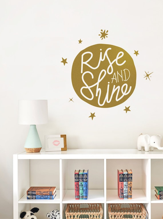 Rise And Shine Wall Decal Etsy