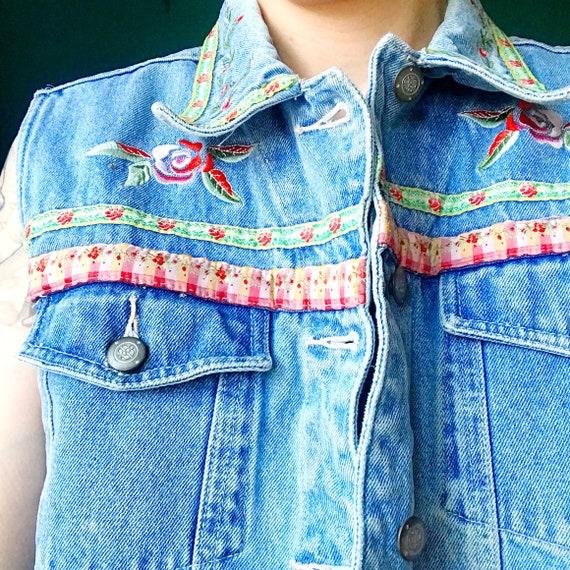 Vintage Denim Vest - image 2