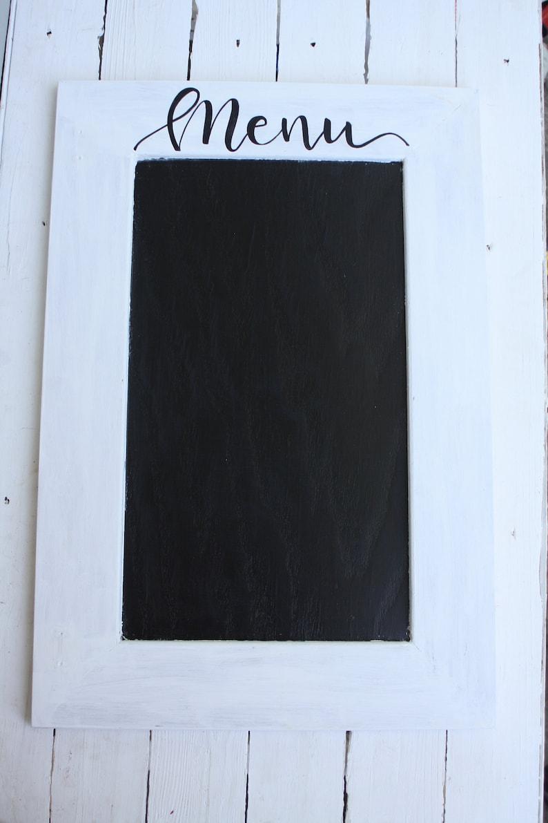 Menü-Tafel-Zeichen - Hand beschrifteten Tafel-Küche-Zeichen