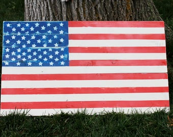 Wooden American Flag Sign / Pallet American Flag