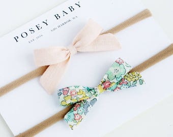 Mini Baby Bow Headbands | Liberty of London Baby Bows | Liberty of London Baby Headband Set