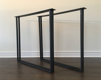 Dual Square Bench Legs   Metal (table Legs, Metal Legs, Diy, Square Table  Legs, Square Legs, Coffee Table Legs, Kitchen Table Legs, Legs)
