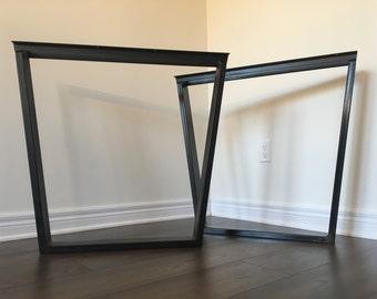 Trapezoid Table Legs   Metal (table Legs, Metal Legs, Diy, Dining Table Legs,  Square Legs, Coffee Table Legs, Kitchen Table Legs, Legs)