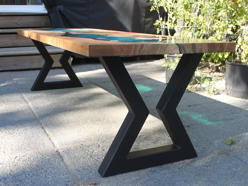 Hourglass Metal Table Legs Dining table legs coffee table ...