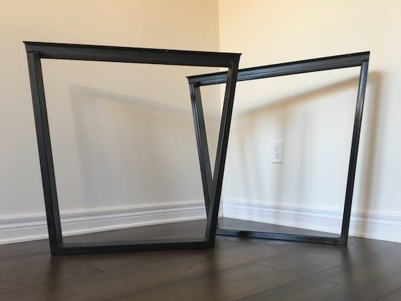 Trapezoid Table Legs Metal Table Legs Metal Legs Diy Etsy - How to make metal table legs