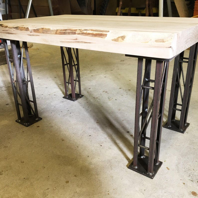 Crane Truss Free Standing Table Legs - Metal (table legs, metal legs, diy,  square table legs, square legs, coffee table legs, legs)