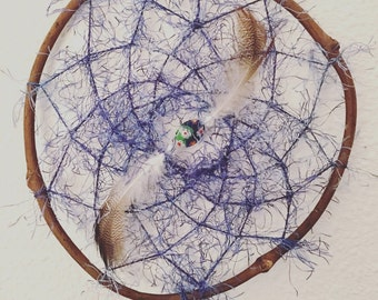 Blue Fuzzy Sweater Dream Catcher