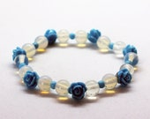 Bracelet Spring joy-Moonstone, Opal Glass