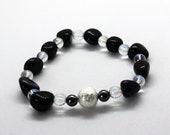 Bracelet Star Gloss-Bluad Sun, AquaAura, Hematite, Silver