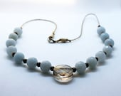 Necklace Peace Donor Aquamarine Smoky Quartz