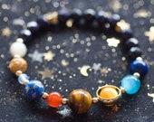 Planet bracelet made of gems Star gloss