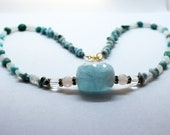 Necklace - Atlantis Pristerin - Aquamarine, Larimar, Rock Crystal, Amazonite, Chrysocolla