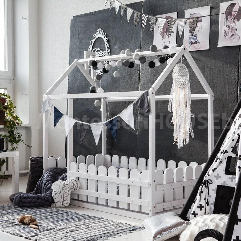Huis Bed Peuter.Montessori Bed Huis Bed Kinderen Persoonsbed En Peuter Bed Etsy