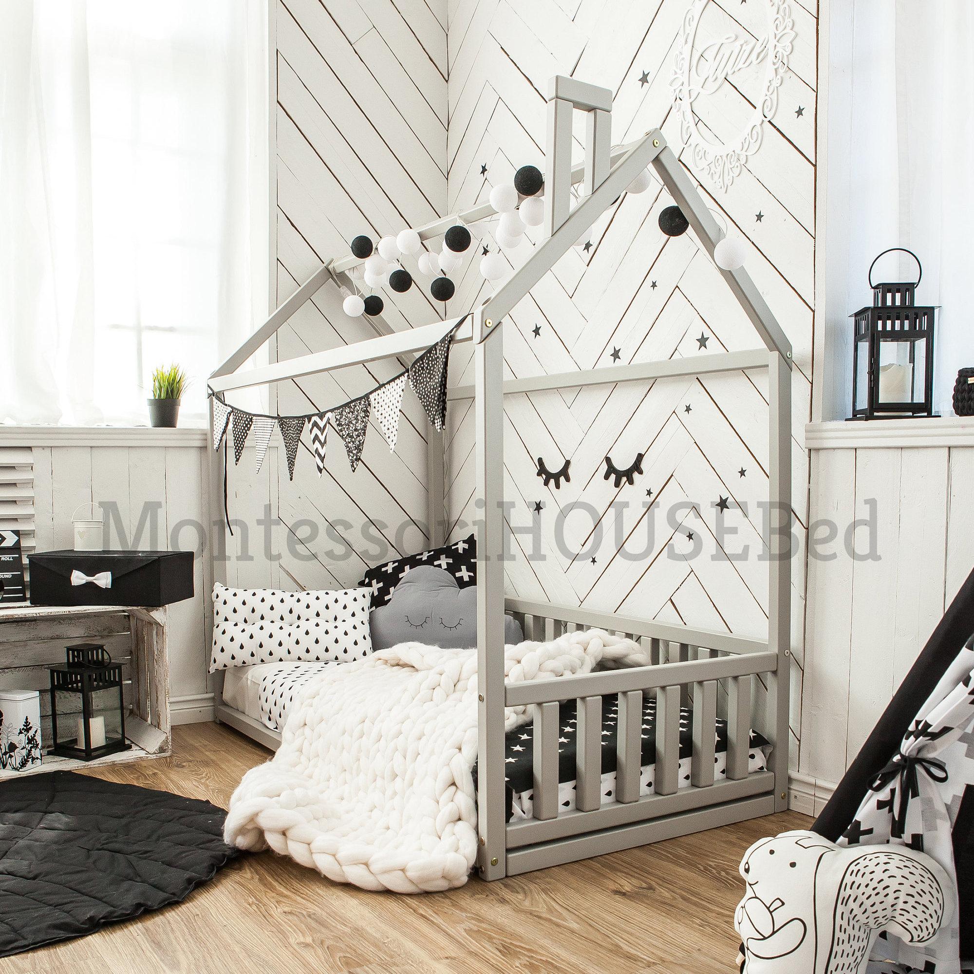 Kleinkind-Bett Kleinkind Haus Bett Montessori Bett Kinder | Etsy