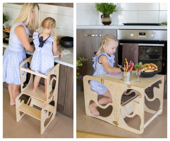 Superb Kitchen Tower Kitchen Stool Safety Stool Toddler Step Stool Kid Step Stool Activity Tower Montessori Tower Creativecarmelina Interior Chair Design Creativecarmelinacom