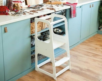 Kitchen Helper tower Kitchen stool Safety stool Toddler step stool Kid Step Stool Activity tower Montessori tower Stepping stool