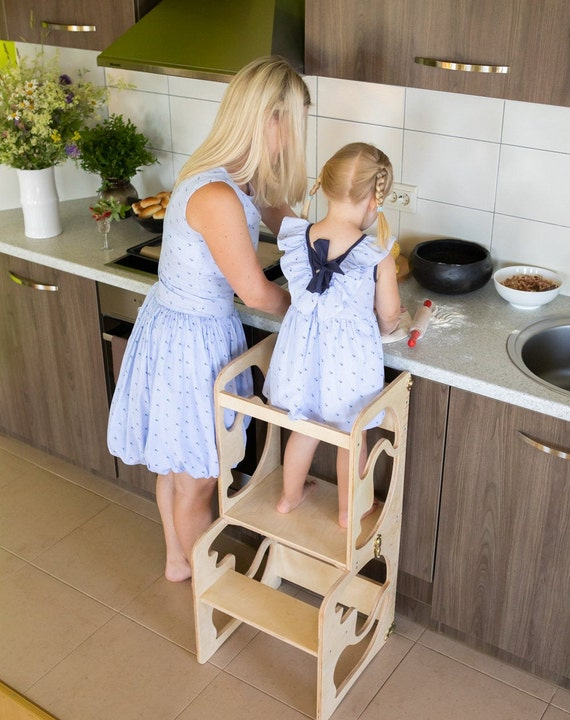 Astounding Kitchen Tower Kitchen Stool Safety Stool Toddler Step Stool Kid Step Stool Activity Tower Montessori Tower Creativecarmelina Interior Chair Design Creativecarmelinacom