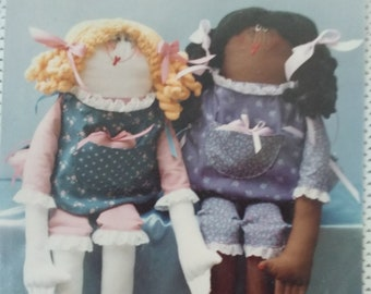 """Rag Doll  Pattern for 36"""" Doll - Kissy Lips Productions - """"Rags"""" - Uncut Sewing Pattern"""