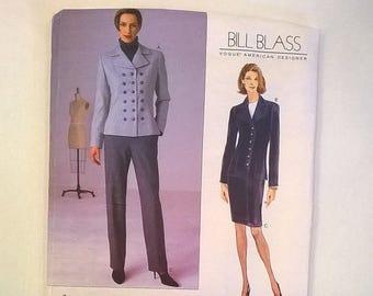Jacket /& Skirt by Bill Blass Vogue American Designer Sewing Pattern 1706