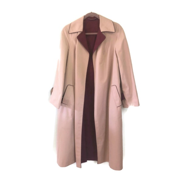 Etienne Aigner Reversible Trench Coat Rain Coat