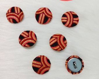 Pretty wax fabric buttons