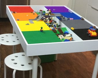 Fabulous Lego Table Etsy Andrewgaddart Wooden Chair Designs For Living Room Andrewgaddartcom