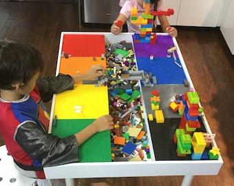 Etonnant Tall Building Bricks Table, Building Blocks Table , Kids Large Lego® Table,  Activity Table, Train Table, Art Table, Lego Table With Storage