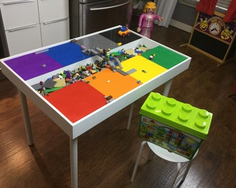 Large U0026 Tall Building Bricks Table, Building Blocks Table , Kids Large  Lego® Table, Activity Table, Train Table, Lego Table With Storage