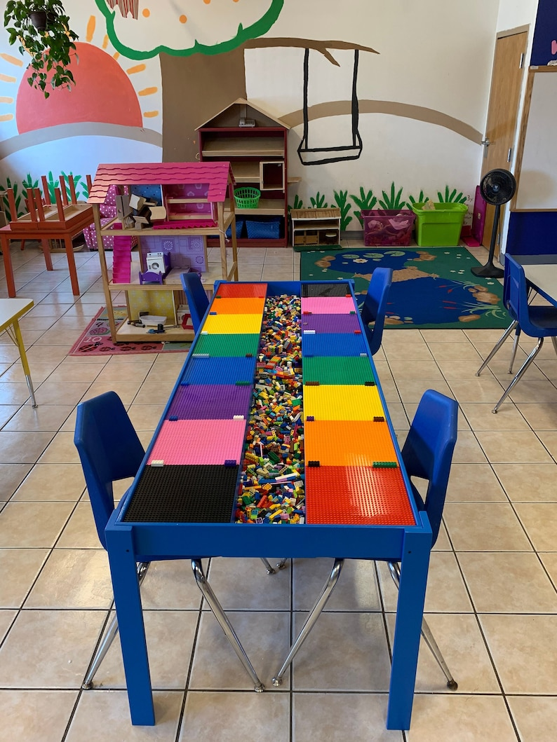 Charmant Huge, Commercial Sized, Big Kids Lego® Table, Activity Table, STEM TABLE,  Train Table, Art Table, Lego® Table With Storage