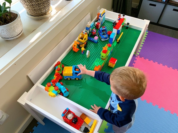 Building Bricks Table Activity Table Building Blocks Table Kids Table Compatible With Lego Table And Bricks And Duplo Train Table