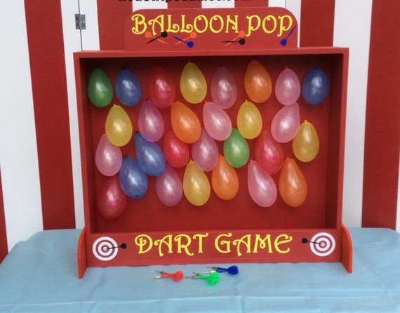 Carnival Games Balloon Dart Game Lawn Game Backyard Games Etsy