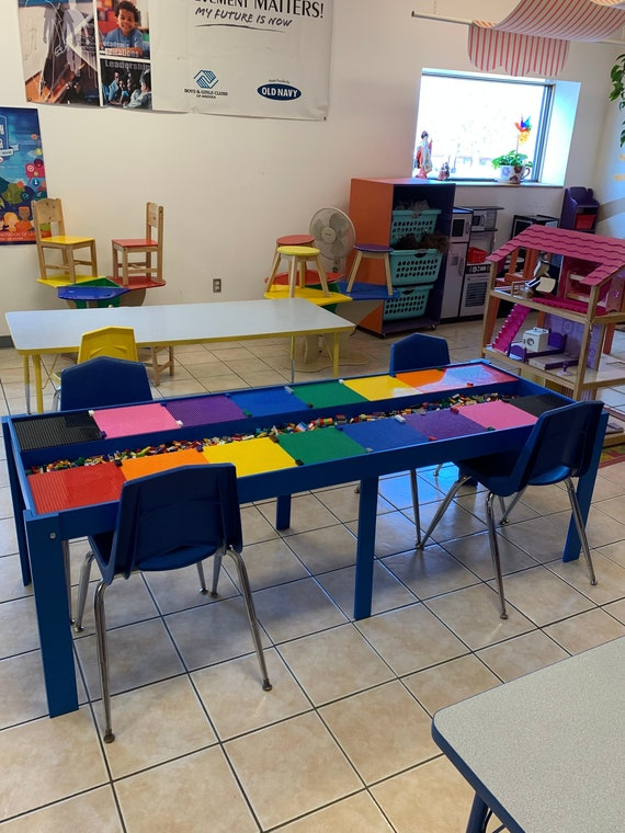 Huge, Commercial Sized, Big Kids Lego® Table, Activity Table, STEM TABLE,  Train Table, Art Table, Lego® Table With Storage
