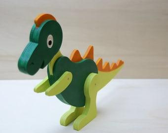 Dinosaur, wood, painted for children's birthdays