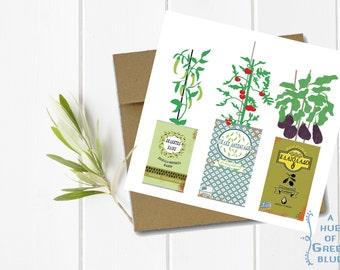 Greek Upcycled Tins Greeting Card with Kraft Envelope