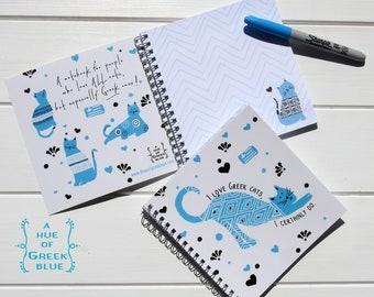 Notebook: I Love Greek Cats, I Certainly Do!