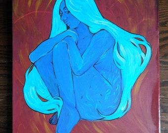 Blue: Original Acrylic Painting