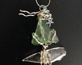 Sea Glass Sailboat Necklace