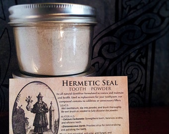Hermetic Seal Tooth Powder - Organic all-natural ingredients and minerals - Salt and fluoride free!