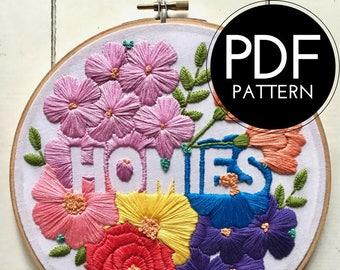 digital hand embroidery pattern | homies | digital PDF download | embroidery pdf | embroidery pattern