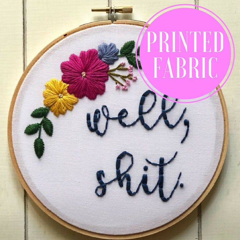 embroidery kit embroidery pattern well hand embroidery kit diy embroidery printed fabric diy embroidery kit shit