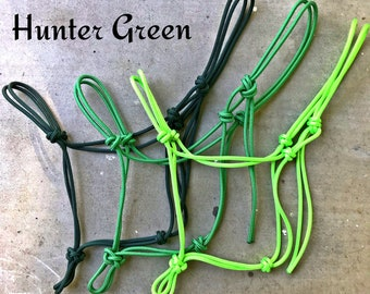Miniature Mini Horse Cowboy Rope knotted Halter with lead