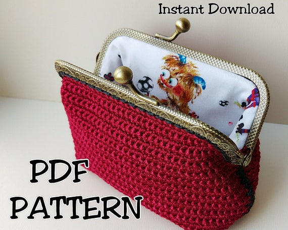 Crochet Coin Purse Pattern Instant Download Happy Monster