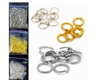 Ösen Verbindungsringe offen 100 Ringe bronzefarben Biegeringe 4 x 0,7 mm