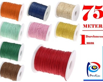 0,10€//m 50m Cotton Cord Ø 2mm Baumwollkordel Vivant grün 62 Bakerstwine Twine