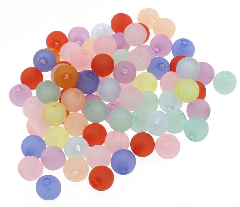 150 Pearls Polaris Effect Noble Mix Plastic Beads 10 mm Bunt Spacer Acrylic beads Beaded Craft Accessories Jewelry design jewelry self Make