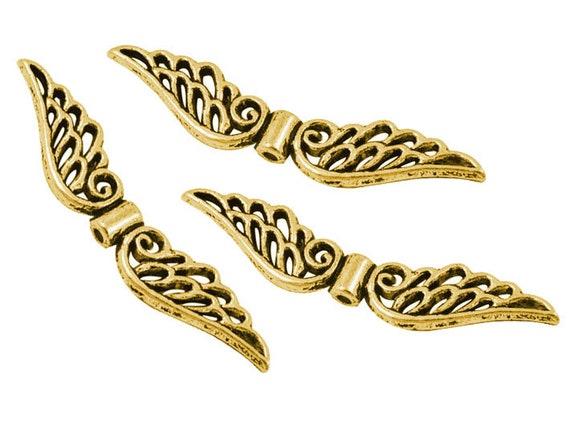 10 Flügel Metallperlen Engelsflügel Perlen 52mm